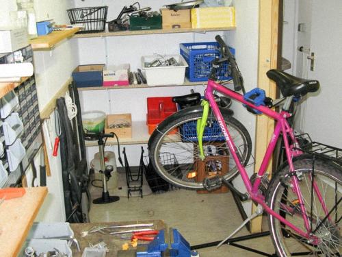 Ein Blick in unsere Fahrradwerkstatt