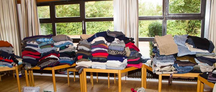 Winterkleidung für die Flüchtlinge
